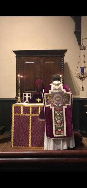 Monday in Holy Week during Low Mass at the All Saints Altar