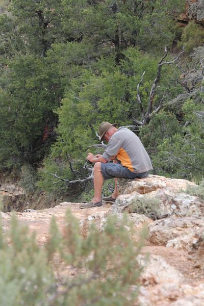 meditating at the Grand Canyon