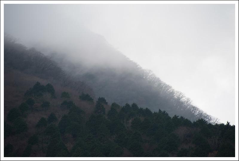 The mountains in Miyanoshita.