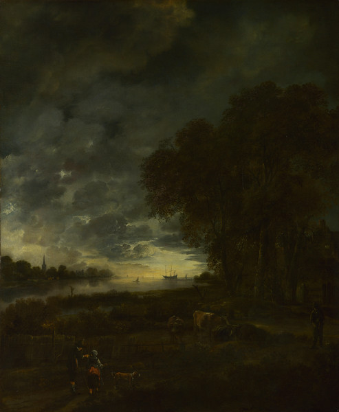 A Landscape with a River at Evening