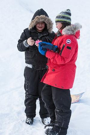 Kyra and Natasha Sliding McCauley's Hill