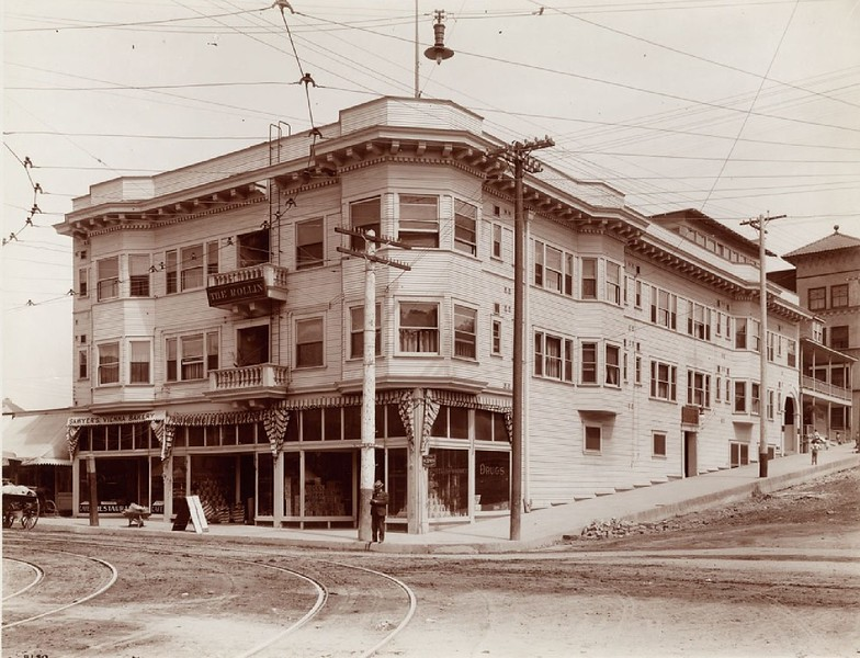 Rollin Hotel on West Third and Flower Street, ca.1900-1909