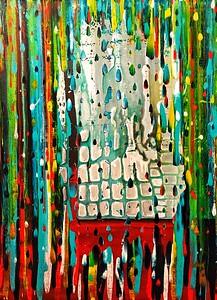 """""""Fossil Rain"""" (acrylic on canvas) by Stan Evenson"""
