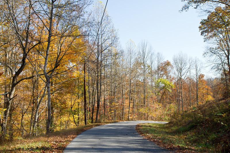 Road near Middlesboro, Kentucky, in autumn