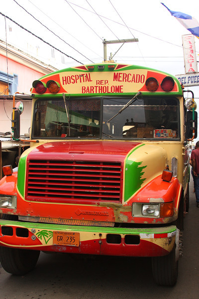 """Old U.S. School buses live on in Nicaragua - Affectionately named """"chicken buses"""" by visitors"""