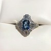 1.41ctw Art Deco Style Aqua and Diamond Dinner Ring 18
