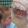Visiting Santa- Kaley and Myles