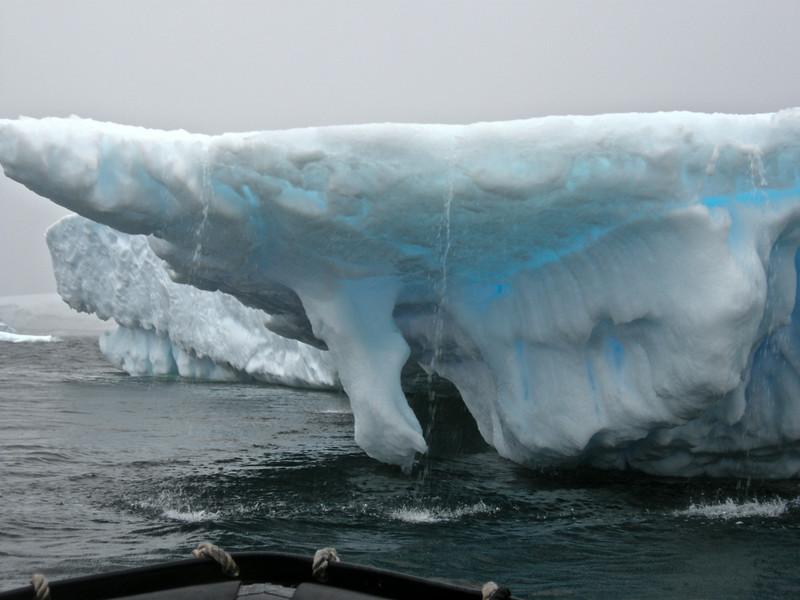 Water running off ice, Antarctic 2010