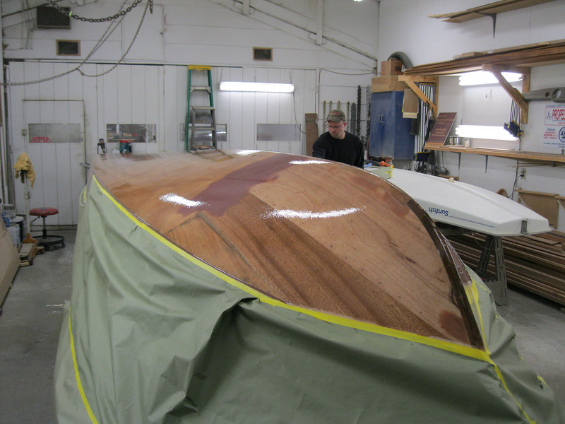 Front port view of applied epoxy.
