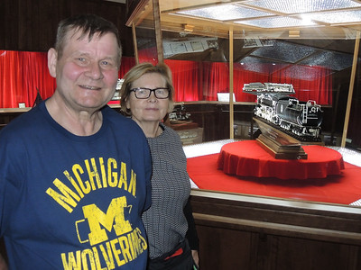 May 14, 2018.  Cousin Tomas and Marja visit Dover's MOONEY WARTHER's Museum.