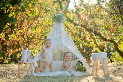 Townsend Twins 1st Birthday 7-12-2021
