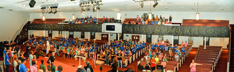 Panorama of auditorium - four shots stitched together