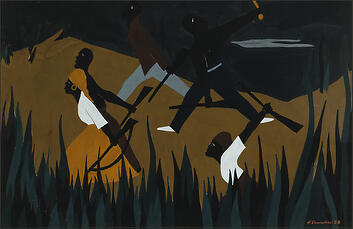 "Jacob Lawrence, ""The Life of Toussaint L'Ouverture No. 38"" (1938)"