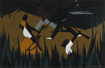 """Jacob Lawrence, """"The Life of Toussaint L'Ouverture No. 38"""" (1938)"""