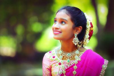 Happy Half Saree Keerthana
