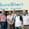Pictured Joanne Morgan, (Project Manager Sure Start) meeting local councillors and officials to discuss the expansion of the project to the Derrymore and Bessbrook wards, l.to r. William Burns, Paddy Duffy, Pat Mc Ginn, John Feehan.06W37N12