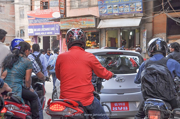 busy streets in Kathmandu