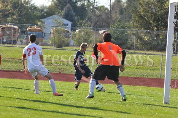 10-14-13 Sports Otsego vs Napoleon D-II sect. boys soccer