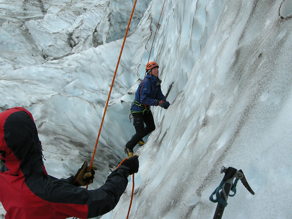 Ice Climbing on Mt. Baker