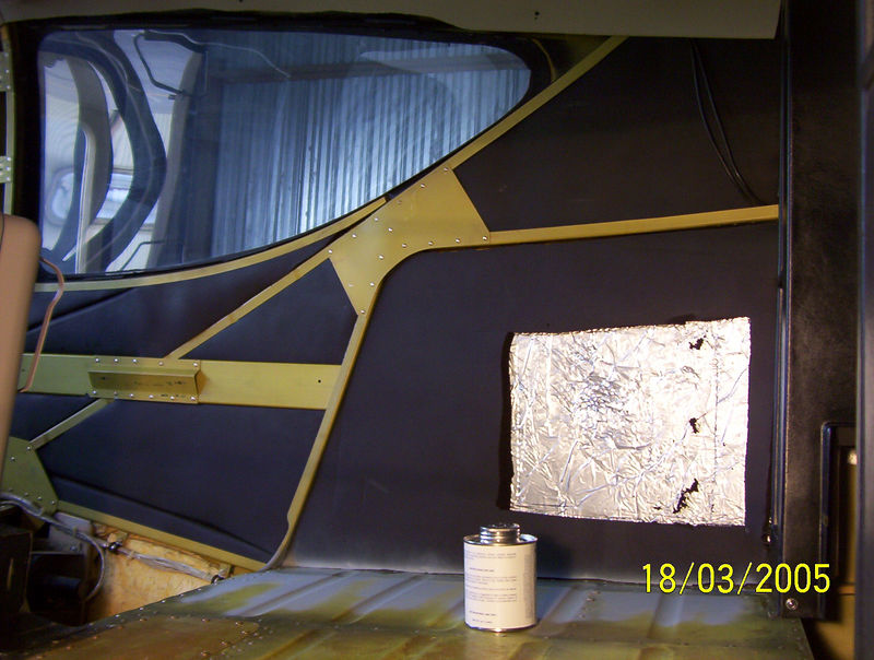 Material carefully fitted in the space between bulkheads