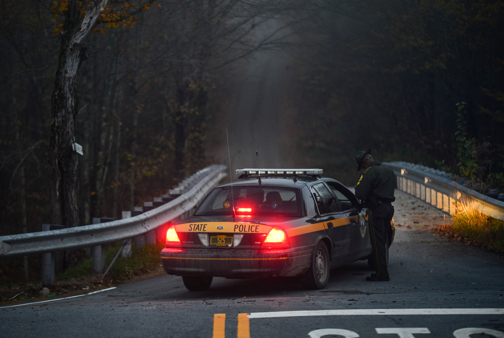 . Detectives with the Vermont State Police are investigating a gunshot death on Gilfeather Road. At just before 5 p.m. Tuesday, Wardsboro Rescue and Rescue Inc. were told to set up a staging area at the Wardsboro Fire Department while the Vermont State Police responded to a report of a gunshot victim lying in a driveway. Troopers closed the road to the public and according to police scanner reports, there was the possibility of an active shooter. Later, there were indications that a shooter had been taken into custody. Kristopher Radder / Reformer Staff