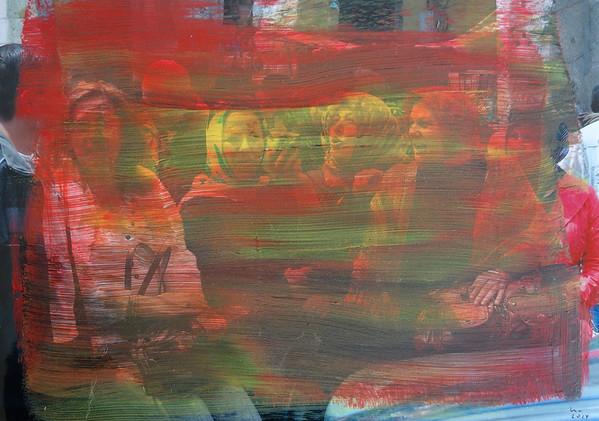 Collaboration mit Roland Manzke: Übermalte Fotografien