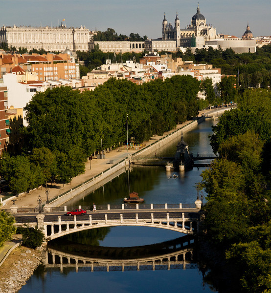 River and Cathedral, Madrid
