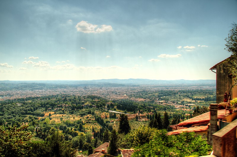 Fiesole, Italy – Florence from Above -  In ancient times, Florence and Fiesole did not get along all that well.  If I was a Florentine, I would be jealous of the view Fiesole has.