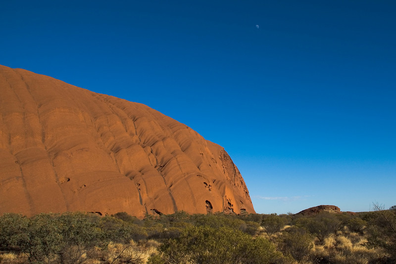 Uluru and Moon 2 - Northern Territory, Australia
