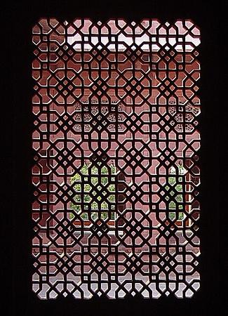 sandstone window screen at Fatipur Sikri, India