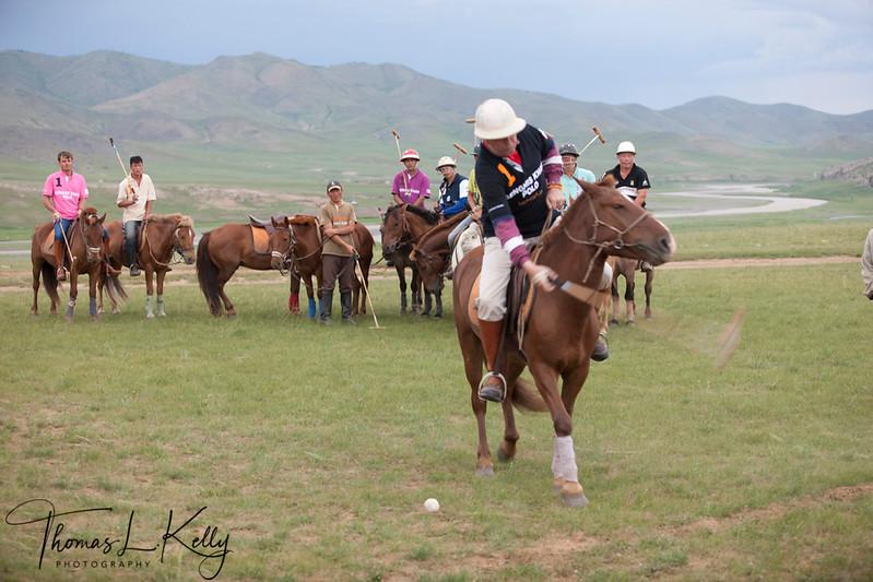 Polo hit.  Monkhe Tingri. Mongolia.