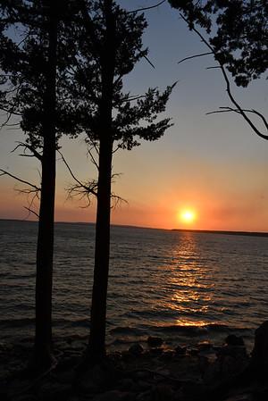 02-18-2016 Elk City Lake waves at sunset