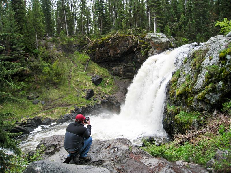 Kevin taking a pic of Moose Falls on Crawfish Creek