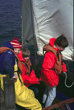 1985 Sailing on Westport Lake