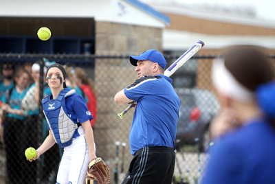 Burlington Central softball vs. Woodstock North