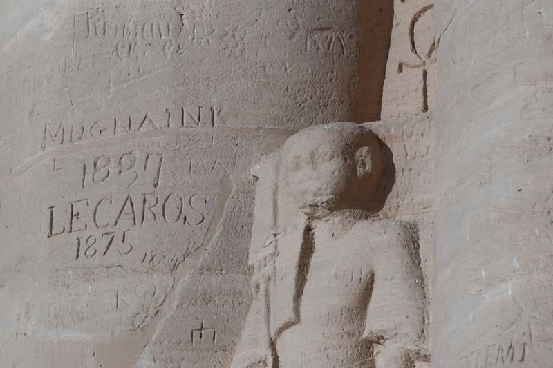 More graffiti on Abu Simbel, Egypt