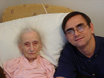 My Mother's last photograph  4 weeks before her death on December 2nd 2005 - Thanks to David & Mary