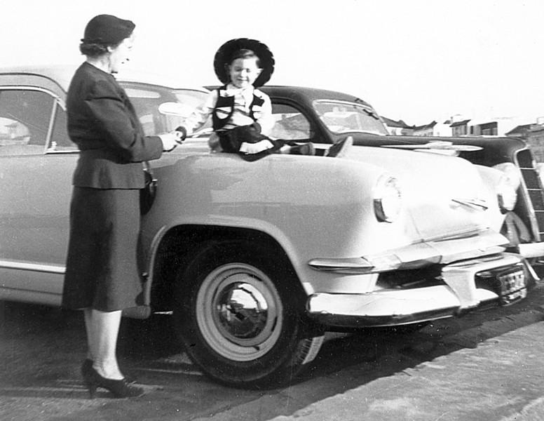 Me and my Great Grandma at Fisherman's Wharf 1953.