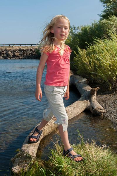 Hannah at the Columbia River near Vantage, WA