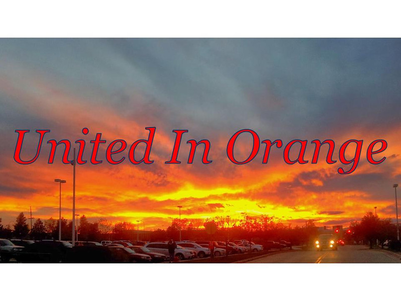 . Taken after a Broncos game ...beautiful orange sunset after a Broncos win! (Photo by Kathy Patterson)