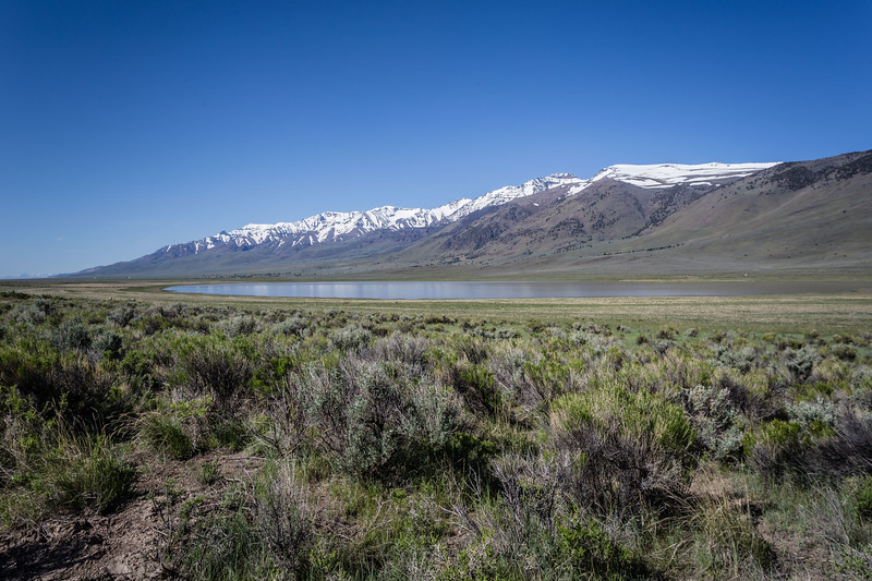 Mann lake and the Steens