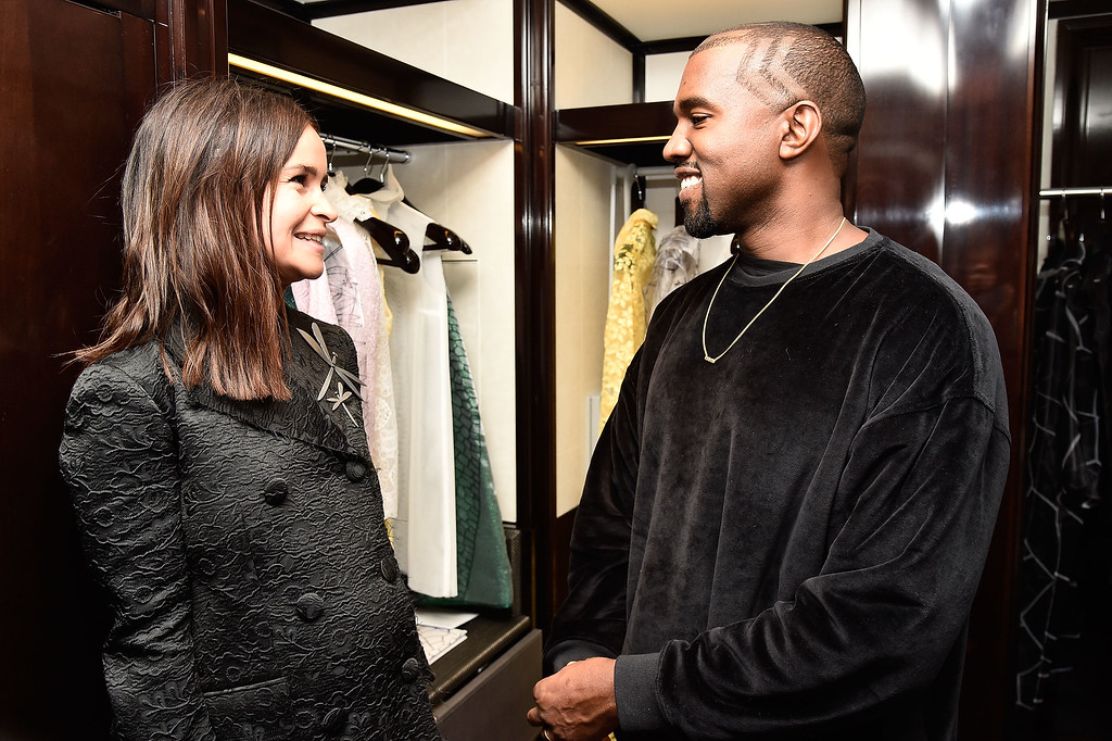 . Miroslava Duma and Kanye West attend Buro 24/7 Fashion Forward Initiative Presenting Natalia Alaverdian, Founder and Creative Director of A.W.A.K.E. at The Peninsula Hotel on September 24, 2014 in Paris, France.  (Photo by Pascal Le Segretain/French Select/Getty Images)