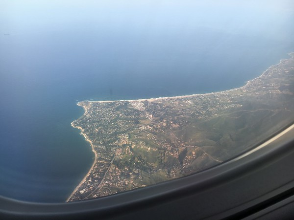Coming into LAX