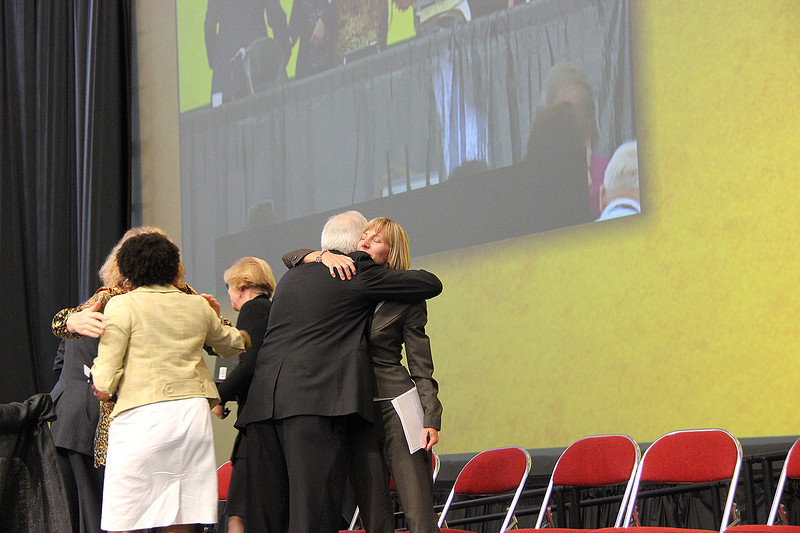 The 25th Anniversary Campaign for the ELCA passes at the Assembly.