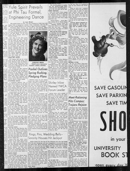 Daily Trojan, Vol. 34, No. 63, December 18, 1942