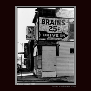 Brains, 25 Cents - Drive in (NOT AVAILABLE AS WALL CALENDAR _ PRINTS ONLY)