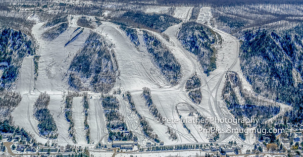 Aerials of the Ski Hills of Collingwood/THornbury