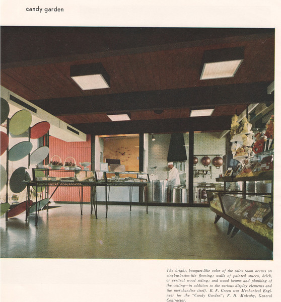 A very rare  view of the inside of Loft's Candy Garden where many kids lost their mind. Located on the middle island of Route 22 where Wendy's is currently located. Here is the history of Lofts: http://www.brandnamecooking.com/loftcandy.html
