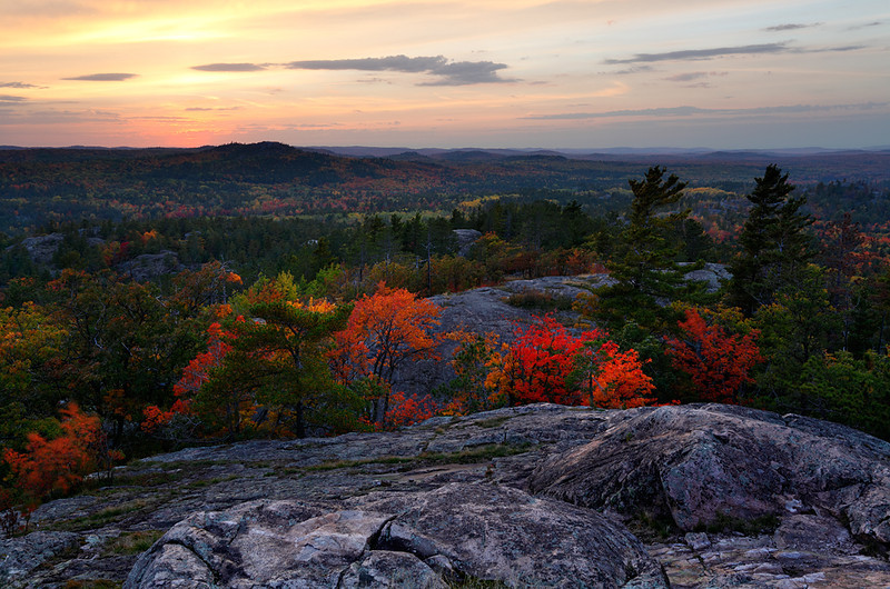 Gleaming Atop Autumn  -  Sugarloaf Mountain (Marquette County - Upper Michigan)