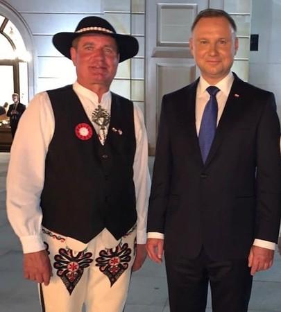 Prezes Józef Cikowski na Uroczystośćiach Zaprzysiężenia Prezydenta RP Andrzeja Dudy